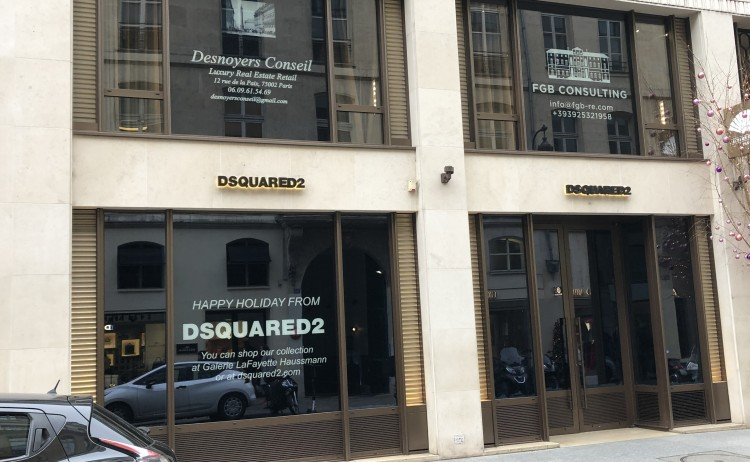 Dsquared, 247 rue Saint Honoré